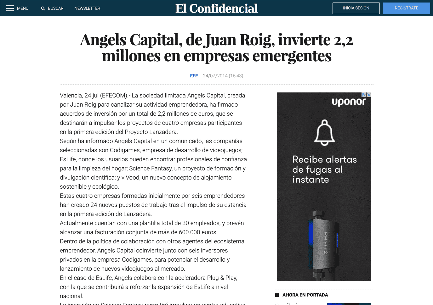 https://www.elconfidencial.com/ultima-hora-en-vivo/2014-07-24/angels-capital-de-juan-roig-invierte-2-2-millones-en-empresas-emergentes_322760/