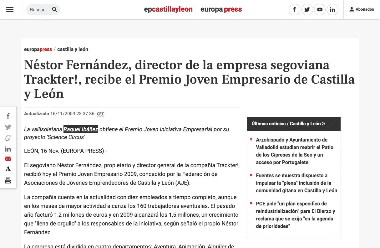 https://www.europapress.es/castilla-y-leon/noticia-nestor-fernandez-director-empresa-segoviana-trackter-recibe-premio-joven-empresario-castilla-leon-20091116223736.html