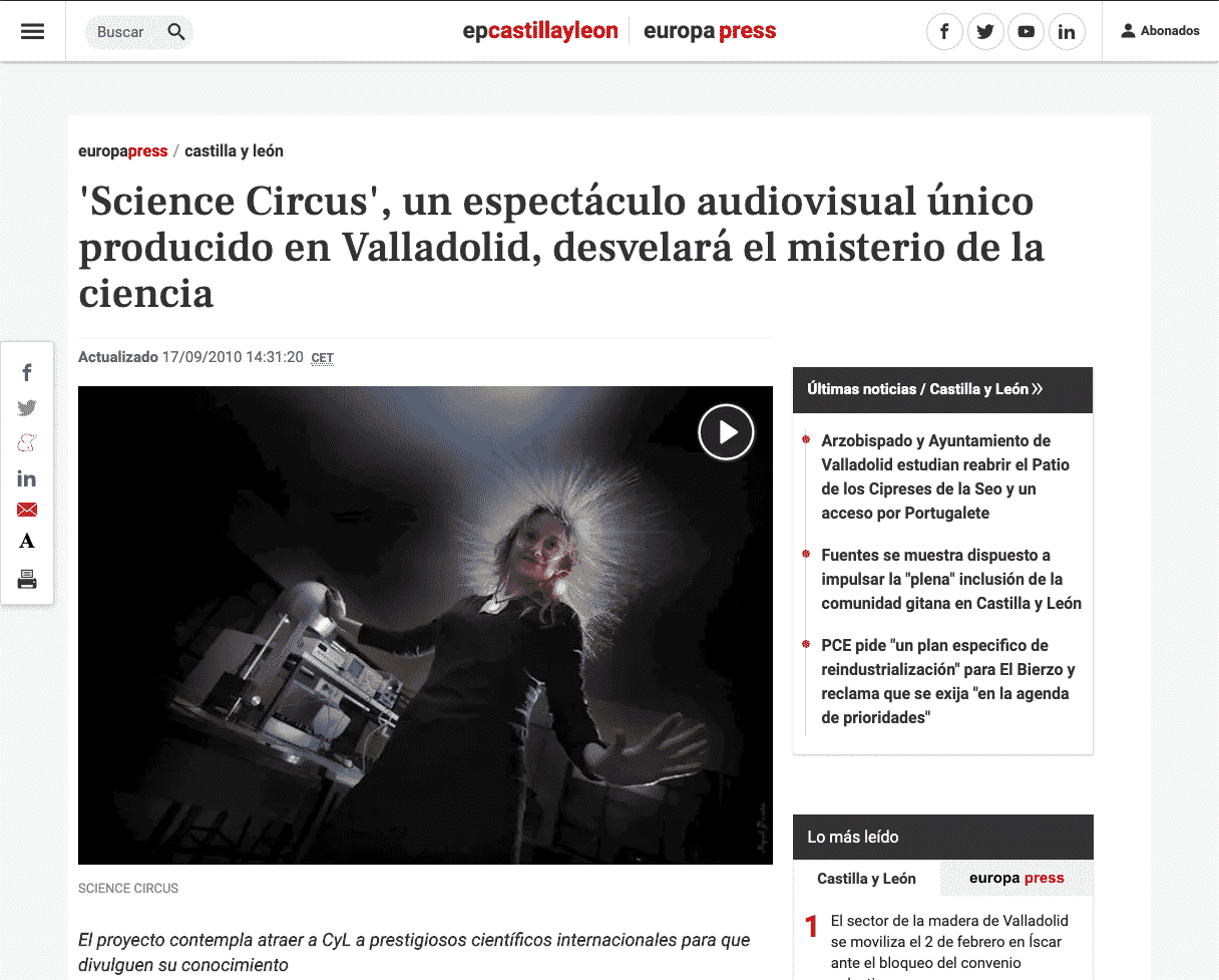 https://www.europapress.es/castilla-y-leon/noticia-science-circus-espectaculo-audiovisual-unico-producido-valladolid-desvelara-misterio-ciencia-20100917123120.html